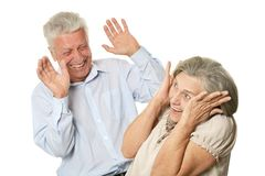 Happy older pair Stock Photos