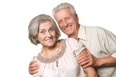 Happy older pair Royalty Free Stock Photography