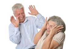Happy older people Royalty Free Stock Image
