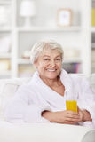 A happy older woman Stock Image