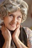 Happy older woman Stock Image