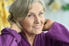 Happy older woman Royalty Free Stock Images