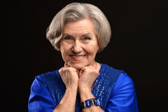Happy older woman Royalty Free Stock Photos