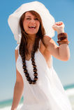 Happy On The Beach Royalty Free Stock Photos