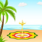 Happy Onam background Royalty Free Stock Image