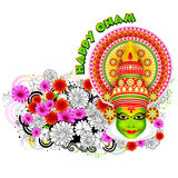 Happy Onam background Stock Photography