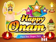 Happy onam background with king mahabali Royalty Free Stock Photo