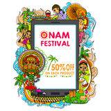Happy Onam big sale stock illustration
