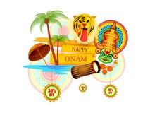 Happy Onam Big Shopping Sale Advertisement background Royalty Free Stock Image
