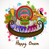 Happy Onam celebration concept. Royalty Free Stock Images