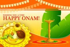 Happy Onam Festival background Stock Photography
