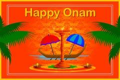 Happy Onam Festival background Stock Photo