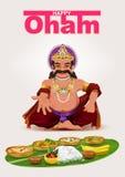 Happy Onam festival in Kerala. God King Mahabali Stock Image