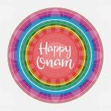 Happy Onam greeting card design Royalty Free Stock Image