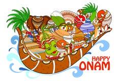 Happy Onam  holiday for South India festival background Royalty Free Stock Photo