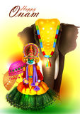 Happy Onam  holiday for South India festival background Stock Photography