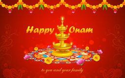 Happy Onam Stock Image