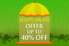 Happy Onam Offer Stock Image