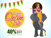 Happy Onam Sale Poster, Banner or Flyer. Royalty Free Stock Photography