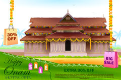 Happy Onam shopping Offer Royalty Free Stock Photo