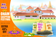 Happy Onam shopping Offer Stock Image