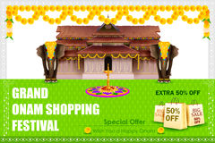 Happy Onam shopping Offer Royalty Free Stock Photos