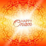 Happy Onam vector greeting card with rangoli Royalty Free Stock Images
