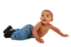 Happy One Year Old African American Baby Boy Royalty Free Stock Image