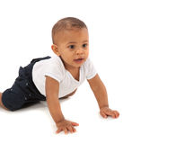 Happy One Year Old African American Baby Boy Stock Photography