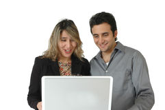 Happy Online Shoppers Stock Images