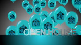 Happy Open House stock footage