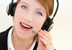 Happy operator 2. Woman operator portrait  in communication Stock Photo
