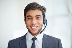 Happy operator Stock Photo