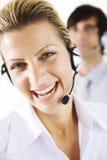 Happy operators Stock Photography
