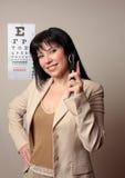 Happy Optometrist Stock Image