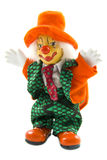 Happy orange clown. Happy clown dressed up in orange with green suit isolated over white Royalty Free Stock Photos