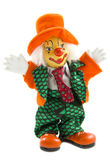 Happy orange clown. Happy clown dressed up in an orange suit isolated over white Royalty Free Stock Photography