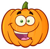 Happy Orange Pumpkin Vegetables Cartoon Emoji Face Character With Expression Stock Photos