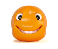 Happy orange. Smiling fruit cartoon character Royalty Free Stock Image