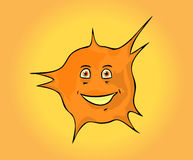 Happy orange sun Stock Photo