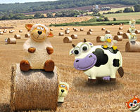 Happy organic farm animals Royalty Free Stock Photography