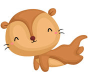 Happy Otter. A  of cute and happy otter Royalty Free Stock Image