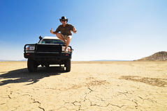 Happy Outback Off Road Driver Stock Photos