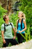 Happy outdoor couple Royalty Free Stock Photography