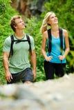 Happy outdoor couple Stock Image