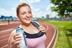 Young sportswoman stock photography