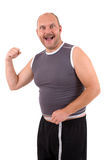 Happy overweight man Royalty Free Stock Photography