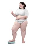 Happy overweight woman. Stock Photography