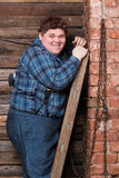 Happy overweight young man Royalty Free Stock Photos