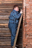 Happy overweight young man Stock Photo
